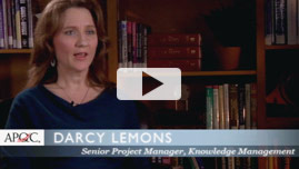 Darcy Lemons, Senior project manager, Knowledge Management