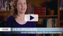 Erin Williams, Senior analyst, Supply Chain Management