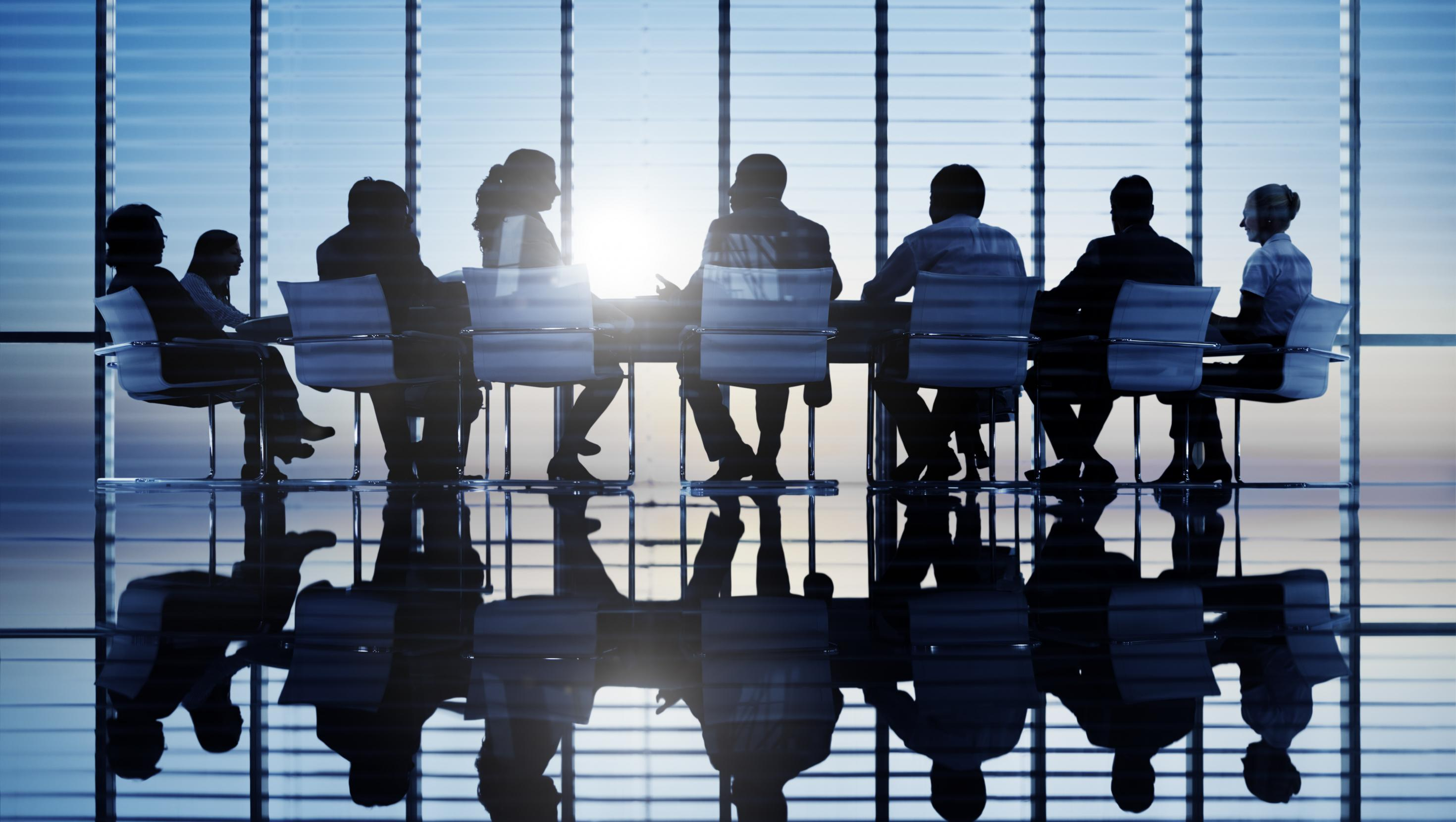 Picture of a group of people around a conference table