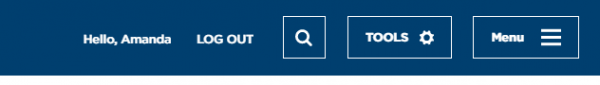 A picture of the APQC administrative toolbar